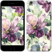 Чехол для iPhone 6 Plus Цветы акварелью 2237c-48