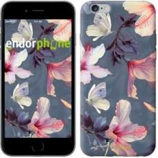Чехол для iPhone 6s Plus Нарисованные цветы 2714c-91