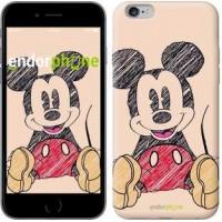 Чехол для iPhone 6s Plus Нарисованный Мики Маус 2731c-91