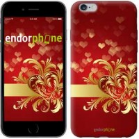 Чехол для iPhone 6 Plus Ажурные сердца 734c-48