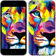 Чехол для iPhone 6s Plus Разноцветный лев 2713c-91