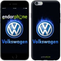 Чехол для iPhone 6s Plus Volkswagen. Fire logo 3141c-91