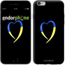 Чехол для iPhone 6s Plus Жёлто-голубое сердце 885c-91