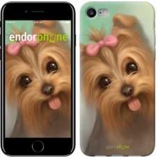 Чехол для iPhone 7 Нарисованный йоркширский терьер 928c-336