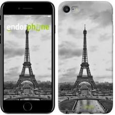 Чехол для iPhone 7 Чёрно-белая Эйфелева башня 842c-336