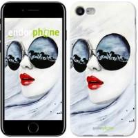 Чехол для iPhone 7 Девушка акварелью 2829c-336