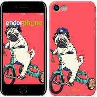 Чехол для iPhone 7 Мопс на велосипеде 3072c-336