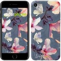 Чехол для iPhone 7 Нарисованные цветы 2714c-336