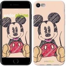Чехол для iPhone 7 Нарисованный Мики Маус 2731c-336