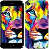 Чехол для iPhone 7 Разноцветный лев 2713c-336