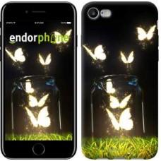Чехол для iPhone 7 Светящиеся бабочки 2983c-336