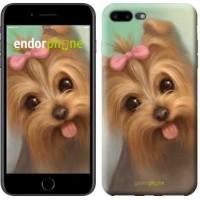 Чехол для iPhone 7 Plus Нарисованный йоркширский терьер 928c-337
