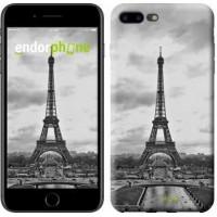 Чехол для iPhone 7 Plus Чёрно-белая Эйфелева башня 842c-337