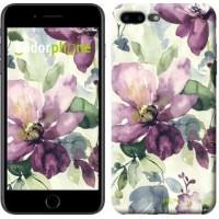 Чехол для iPhone 7 Plus Цветы акварелью 2237c-337