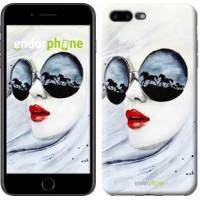 Чехол для iPhone 7 Plus Девушка акварелью 2829c-337