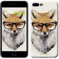 Чехол для iPhone 7 Plus Лис в очках 2707c-337