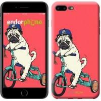 Чехол для iPhone 7 Plus Мопс на велосипеде 3072c-337
