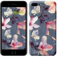 Чехол для iPhone 7 Plus Нарисованные цветы 2714c-337