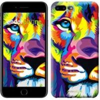 Чехол для iPhone 7 Plus Разноцветный лев 2713c-337