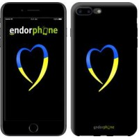 Чехол для iPhone 7 Plus Жёлто-голубое сердце 885c-337