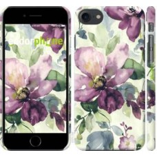 Чехол для iPhone 8 Цветы акварелью 2237m-1031