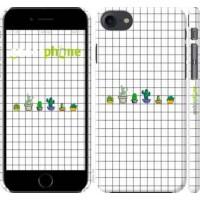 Чехол для iPhone 8 Кактусы рисунок 4860m-1031