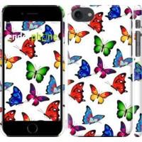Чехол для iPhone 8 Красочные мотыльки 4761m-1031