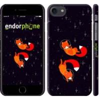 Чехол для iPhone 8 Лисички в космосе 4519m-1031