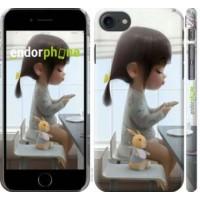 Чехол для iPhone 8 Милая девочка с зайчиком 4039m-1031
