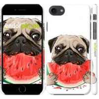 Чехол для iPhone 8 Мопс и арбуз 4665m-1031