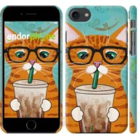Чехол для iPhone 8 Зеленоглазый кот в очках 4054m-1031