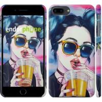 Чехол для iPhone 8 Plus Арт-девушка в очках 3994m-1032