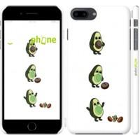 Чехол для iPhone 8 Plus Авокадо 1 4857m-1032