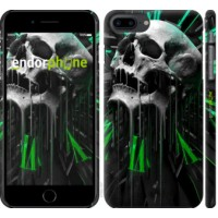 Чехол для iPhone 8 Plus Череп-часы 4100m-1032