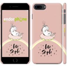 Чехол для iPhone 8 Plus Единорожка в пончике 4282m-1032