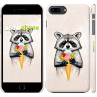 Чехол для iPhone 8 Plus Енотик с мороженым 4602m-1032