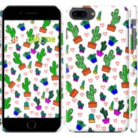 Чехол для iPhone 8 Plus Кактусы 4 4856m-1032