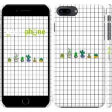Чехол для iPhone 8 Plus Кактусы рисунок 4860m-1032