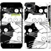 Чехол для iPhone 8 Plus Коты v2 3565m-1032