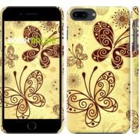 Чехол для iPhone 8 Plus Красивые бабочки 4170m-1032