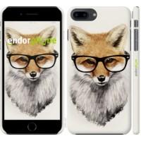 Чехол для iPhone 8 Plus Лис в очках 2707m-1032