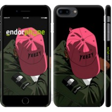 Чехол для iPhone 8 Plus logo de yeezy 3995m-1032