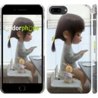 Чехол для iPhone 8 Plus Милая девочка с зайчиком 4039m-1032