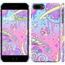 Чехол для iPhone 8 Plus Розовая галактика 4146m-1032