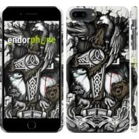 Чехол для iPhone 8 Plus Тату Викинг 4098m-1032