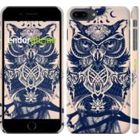 Чехол для iPhone 8 Plus Узорчатая сова 4000m-1032