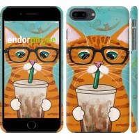Чехол для iPhone 8 Plus Зеленоглазый кот в очках 4054m-1032