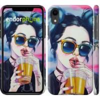 Чехол для iPhone XR Арт-девушка в очках 3994c-1560
