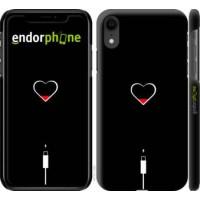 Чехол для iPhone XR Подзарядка сердца 4274c-1560