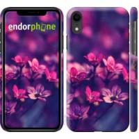 Чехол для iPhone XR Пурпурные цветы 2719c-1560